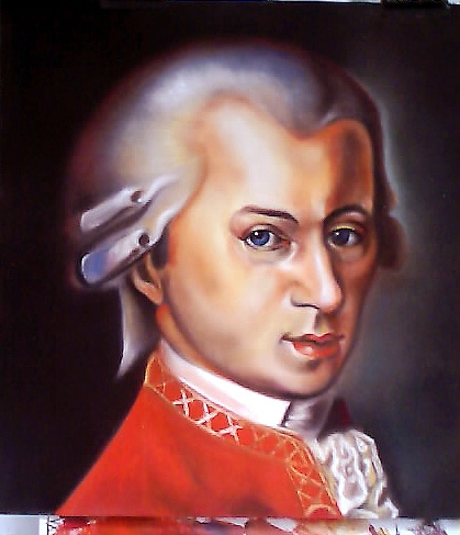 Wolfgang Amadeus Mozart by Rob